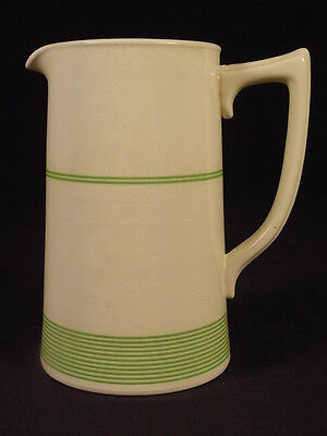 Rare Large Green Banded Pitcher Kleen Kitchen Ware Staffordshire Mint