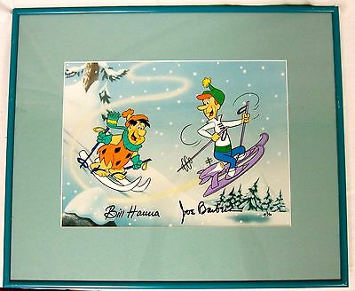 Hanna Barbera Signed Flintstones Jetsons Cel Downhill Dads Artist Proof Number 2