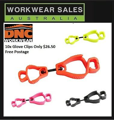 Glove Clip Set X10 Choose the colour You Like Work Safety Free Post Aust Seller
