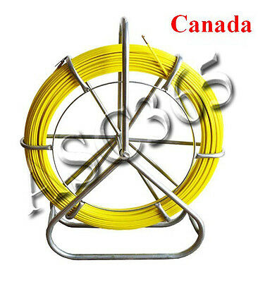 Fish Tape Fiberglass Wire Cable Rod Duct Rodder Fishtape Puller 6mm