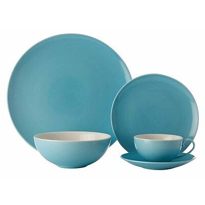 Maxwell & Williams Colour Basics Coupe 20 Piece Dinner Set Sky Gift Boxed