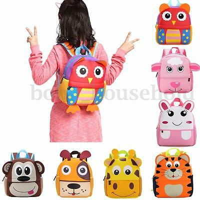 Kids Boys Girls 3D Cartoon Animal Backpack Children School Shoulder Bag Rucksack