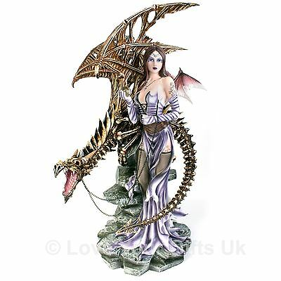Draconis 67cm High Dragon Gothic Fairy Nemesis Now Dark Angel Fantasy Figure