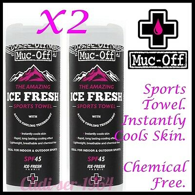 MUC OFF ICE FRESH SPORTS TOWEL With Active Cooling Technology Cycling Running x2
