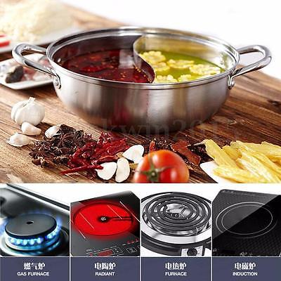 34cm / 40cm Stainless Steel Twin Hot Pot Shabu Dual Site For Induction Cooker