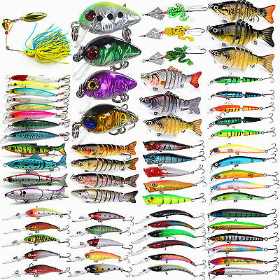 Lot 3/4/5/7/8/10pcs Kinds of Fishing Lures Crankbaits Hooks Minnow Baits Tackle