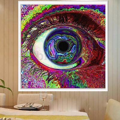 """Psychedelic Trippy Colorful Eye Art Silk Cloth Poster 24 x 24"""" Home Wall Decor"""