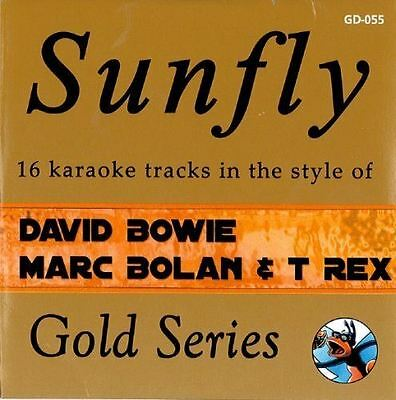 Sunfly Karaoke Gold Series David Bowie Marc Bolan & T Rex CD + G New Sealed