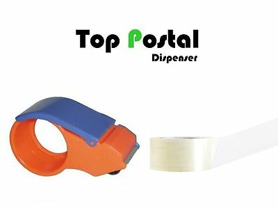 "Parcel Tape Dispenser Gun holder Cutter Roll Quality Manual Hand use 2 "" + TAPE"