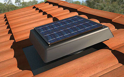 SV200P 24x7 Thermostat SOLAR POWERED ROOF VENT ventilation attic exhaust FAN