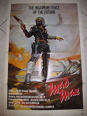 "MAD MAX 1979 Original SS 27x41"" US One Sheet Movie Poster M Gibson George Miller"