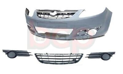 Vauxhall Corsa D 2007 - 2011 Front Bumper Complete With Grilles No Fog