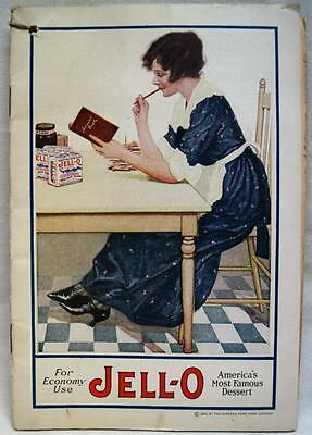 Jello Dessert & Ice Cream Powder Advertising Recipe Brochure 1920 Vintage