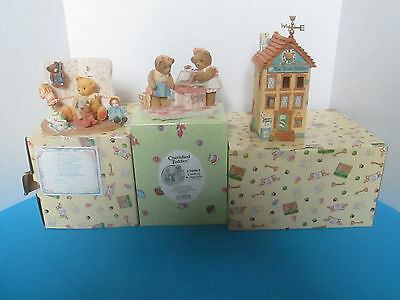 19 Cherished Teddies Club Exclusives Lindsay & Danielle Town Tattler+ With Boxes