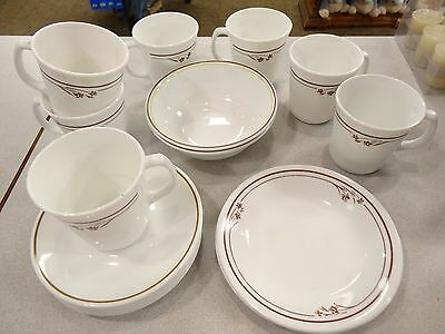 Rare Lot Of 21 Pcs Corelle Corning Ware Vintage Melody Cups, Bowls, Saucers,brea