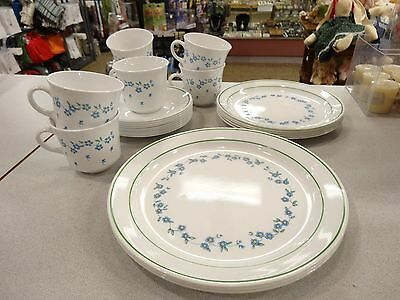 Rare Lot Of 28 Pcs Corelle Corning Ware Vintage Forget Me Not