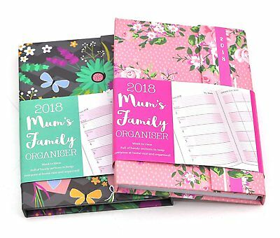 2017 A5/A6 Mum's Home Family Organiser Week to View Diary Xmas Gift Vintage Styl