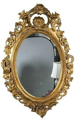 An Antique Louis XV Style Wood & Gilt Gesso Mirror  101