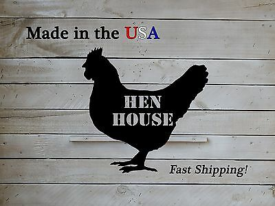 Hen House, Chicken Sign, Coop Decor, Metal Art, Country Decor, Rooster, S1066