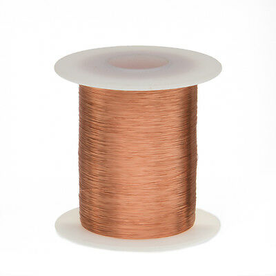 "40 AWG Gauge Enameled Copper Magnet Wire 2 oz 4152' Length 0.0034"" 155C Natural"
