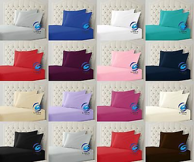 Plain Pollycotton Fitted Sheet Bunk Bed Small Single Fitted Sheet