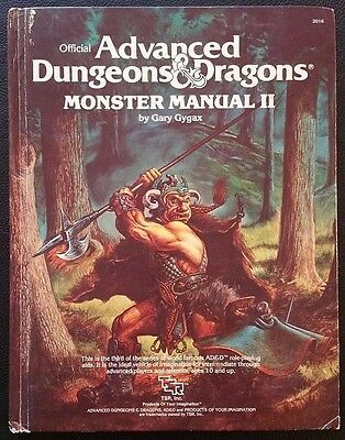 AD&D 1983 MONSTER MANUAL II 2 TSR 2016 Advanced Dungeons & Dragons Hardcover VG