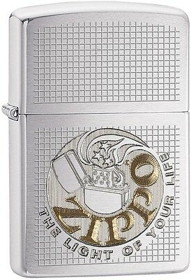 Zippo Choice Catalog The Light of Your Life Brushed Chrome Auto Two Tone 29236