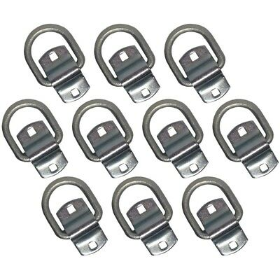 """Set of 10 Forged Bolt-on 1/2"""" D-Rings Truck Trailer Tie-Down Rope Chain D Ring"""