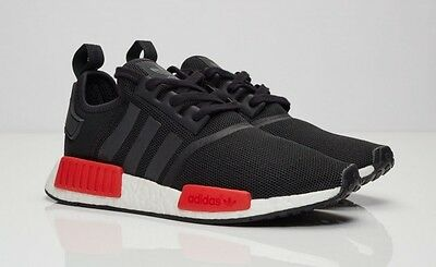 4593a5b05ebde Adidas Originals Nmd   R1 Runner Core Black White Red Bb1969 Size 8 ~ 10.5