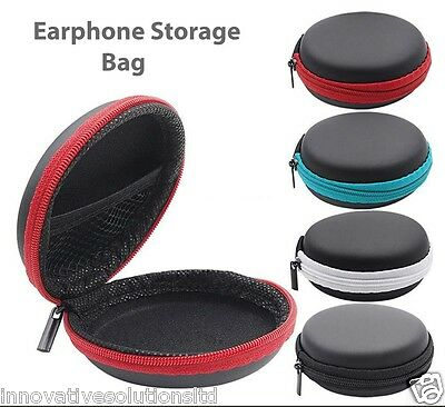 Earphone Storage Carrying Bag Handfree Earbud Case Cover For USB Cable Key Coin