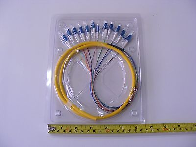 3M Fiber Optic Pigtail, SM single mode 12 LC cable 3 meter indoor fusion