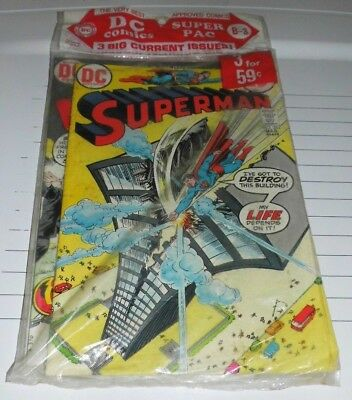 1973 DC Super Pac B-3 Sealed 3 Comics Superman 262 Wanted 7 Mister Miracle 13!!!