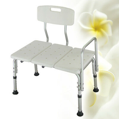 Carejoy Sliding Shower Bath Transfer Bench Shower Chair Shower Seat Helpful New