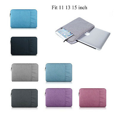 """11"""" 13"""" 15"""" Laptop sleeve carry bag Case pouch for MacBook DELL ACER IBM LENOVO"""