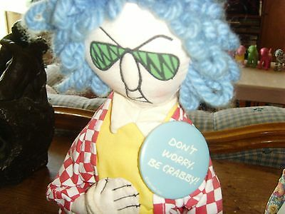 Don't Worry be Crabby Standing Maxine Hallmark soft doll 1995 novelty humor fun