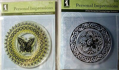 NEW INKADINKADO PERSONAL IMPRESSIONS Clear Stamps For Creating Unique Stationery