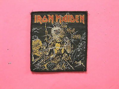 "Iron Maiden Used Vintage Patch Uk Import ""live After Death"""