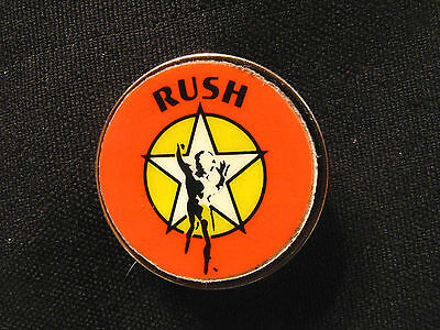 Vintage Round Rush Pin  Button Badge Uk Import