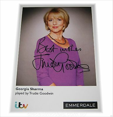 TRUDIE GOODWIN (Georgie Sharma) HAND SIGNED AUTOGRAPHED CARD EMMERDALE  The Bill