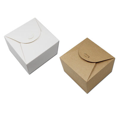 Brown & White Kraft Paper Lace Packaging Boxes For Candy Cookies Cake Gifts Pack
