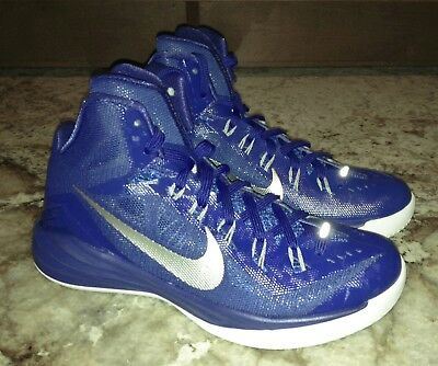 the latest c839f fd2d4 NIKE Hyperdunk 2014 Royal Blue Silver Basketball Shoes Sneakers NEW Mens Sz  7.5
