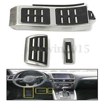 3x No Drill DSG Sport Foot AT Brake Pedal Plate For AUDI A4 S4 A5 A6 Q5 S5 A7