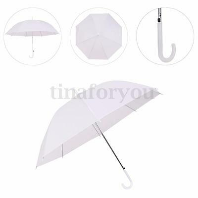 Dome Transparent Umbrella Large Clear Scrub Parasol Ladies Walking For Sun Rain
