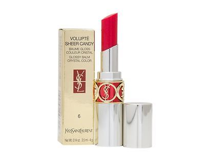 YSL Volupte Sheer Candy Glossy Balm Crystal Color 4g #6 Damaged Box