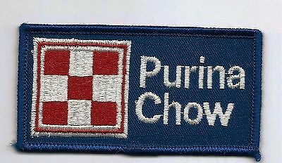 Purina Chow animal feed advertising patch 2 X 3-7/8 blue #1115