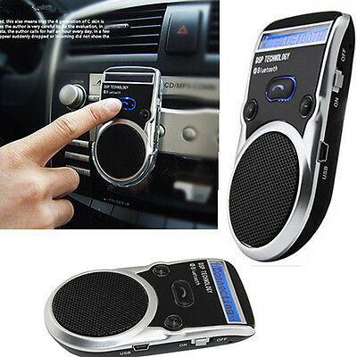 Vivavoce Bluetooth Solare Power Lcd Display Per Auto Speaker Smartphone