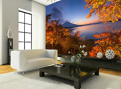 Fuji in Fall Wall Mural Photo Wallpaper GIANT DECOR Paper Poster Free Paste