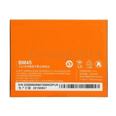 3020mAh BM45 3.8V Replacement Rechrageable Phone Battery For Xiaomi Redmi Note 2