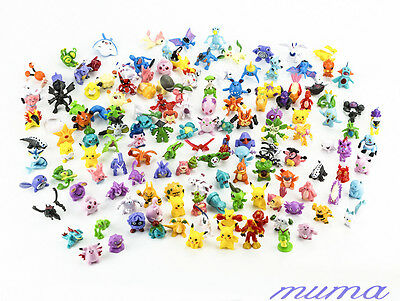 144pcs Pokemon Monster Mini figure 2-3cm Action Figures in Cute Toys gift Random