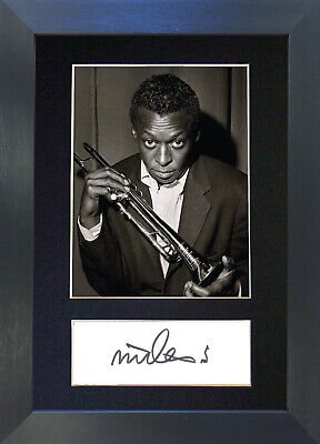 MILES DAVIES Signed Mounted Autograph Photo Prints A4 476